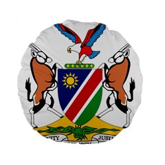 Coat Of Arms Of Namibia Standard 15  Premium Round Cushions