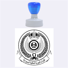 Emblem Of The Royal Saudi Air Force  Rubber Round Stamps (large) by abbeyz71