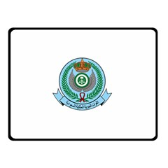 Emblem Of The Royal Saudi Air Force  Double Sided Fleece Blanket (small)  by abbeyz71