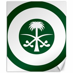 Roundel Of The Royal Saudi Air Force Canvas 8  X 10