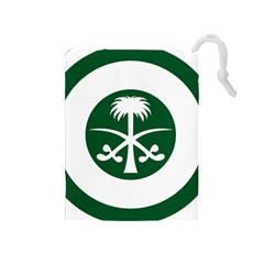 Roundel Of The Royal Saudi Air Force Drawstring Pouches (medium)  by abbeyz71