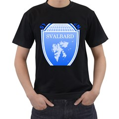 Coat Of Arms Of Svalbard Men s T Shirt (black) (two Sided) by abbeyz71