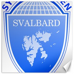 Coat Of Arms Of Svalbard Canvas 12  X 12