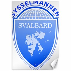 Coat Of Arms Of Svalbard Canvas 12  X 18