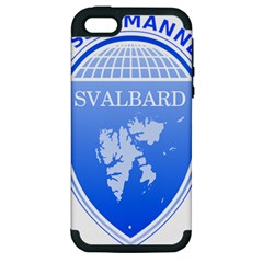 Coat Of Arms Of Svalbard Apple Iphone 5 Hardshell Case (pc+silicone)