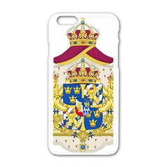 Greater Coat Of Arms Of Sweden  Apple Iphone 6/6s White Enamel Case by abbeyz71