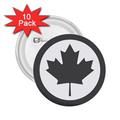 Low Visibility Roundel Of The Royal Canadian Air Force 2.25  Buttons (10 pack)