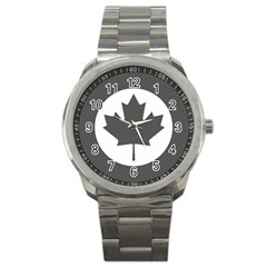 Low Visibility Roundel Of The Royal Canadian Air Force Sport Metal Watch by abbeyz71