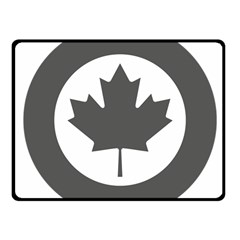 Low Visibility Roundel Of The Royal Canadian Air Force Fleece Blanket (small) by abbeyz71