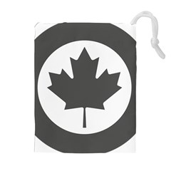 Low Visibility Roundel Of The Royal Canadian Air Force Drawstring Pouches (extra Large) by abbeyz71
