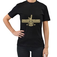 Stylized Faravahar  Women s T Shirt (black) by abbeyz71