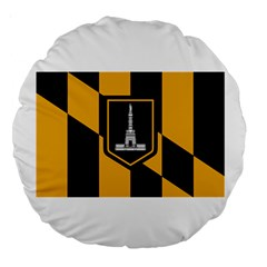 Flag Of Baltimore Large 18  Premium Round Cushions