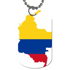 Flag Map Of Colombia Dog Tag (one Side)