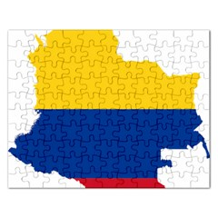 Flag Map Of Colombia Rectangular Jigsaw Puzzl