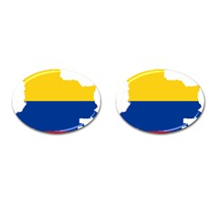 Flag Map Of Colombia Cufflinks (oval)