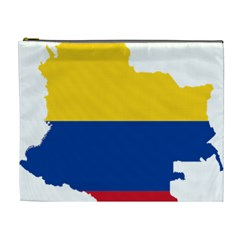 Flag Map Of Colombia Cosmetic Bag (xl)