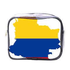 Flag Map Of Colombia Mini Toiletries Bags