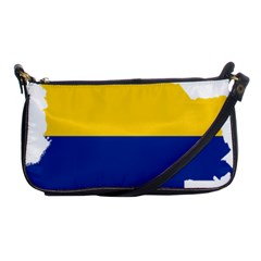Flag Map Of Colombia Shoulder Clutch Bags
