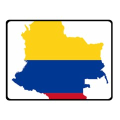 Flag Map Of Colombia Fleece Blanket (small)