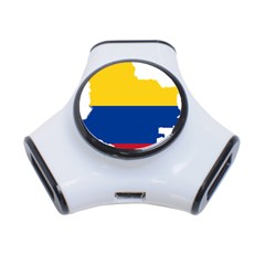 Flag Map Of Colombia 3 Port Usb Hub