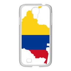 Flag Map Of Colombia Samsung Galaxy S4 I9500/ I9505 Case (white)