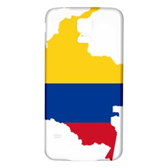 Flag Map Of Colombia Samsung Galaxy S5 Back Case (white) by abbeyz71