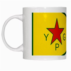 Flag Of The People s Protection Units White Mugs