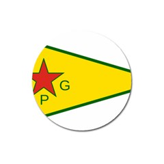 Flag Of The People s Protection Units Magnet 3  (round) by abbeyz71