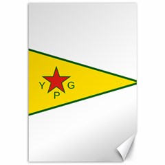Flag Of The People s Protection Units Canvas 12  X 18