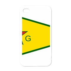 Flag Of The People s Protection Units Apple Iphone 4 Case (white) by abbeyz71
