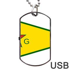 Flag Of The People s Protection Units Dog Tag Usb Flash (two Sides)  by abbeyz71