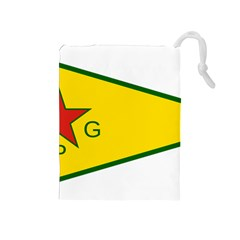Flag Of The People s Protection Units Drawstring Pouches (medium)  by abbeyz71