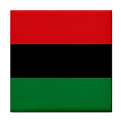 Pan African Flag  Tile Coasters