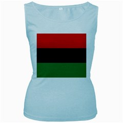 Pan African Flag  Women s Baby Blue Tank Top