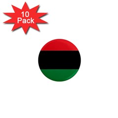 Pan African Flag  1  Mini Magnet (10 Pack)