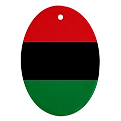 Pan African Flag  Oval Ornament (two Sides) by abbeyz71