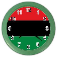 Pan African Flag  Color Wall Clocks by abbeyz71