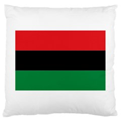 Pan African Flag  Large Cushion Case (Two Sides) by abbeyz71