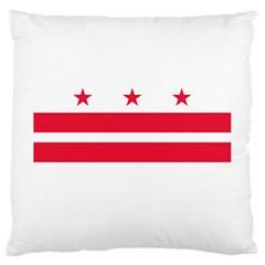 Flag Of Washington, Dc  Large Cushion Case (one Side)