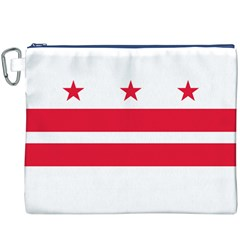 Flag Of Washington, Dc  Canvas Cosmetic Bag (XXXL) by abbeyz71