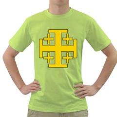 Jerusalem Cross Green T Shirt