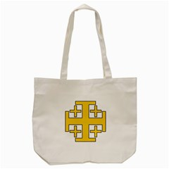 Jerusalem Cross Tote Bag (cream)