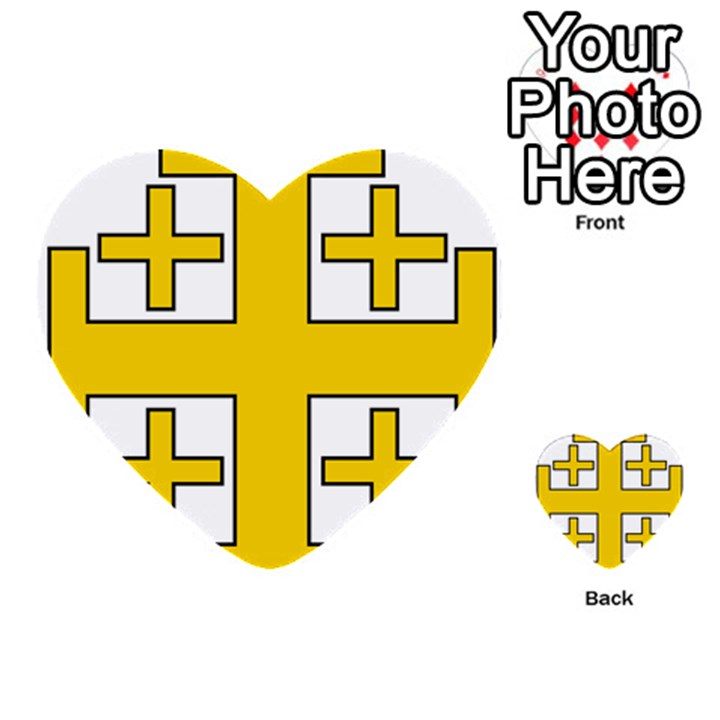 Jerusalem Cross Multi-purpose Cards (Heart)