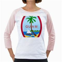 Seal Of Guam Girly Raglans