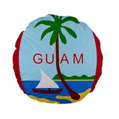Seal Of Guam Standard 15  Premium Round Cushions