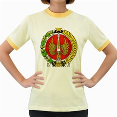 Seal of Yogyakarta  Women s Fitted Ringer T-Shirts by abbeyz71
