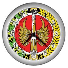 Seal of Yogyakarta  Wall Clocks (Silver)  by abbeyz71