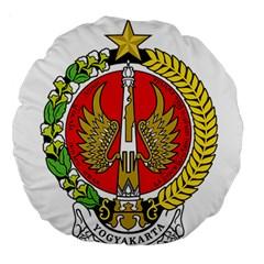 Seal Of Yogyakarta  Large 18  Premium Round Cushions