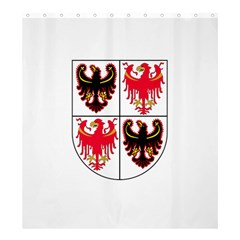 Coat Of Arms Of Trentino Alto Adige Sudtirol Region Of Italy Shower Curtain 66  X 72  (large)