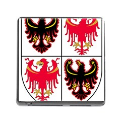 Coat Of Arms Of Trentino Alto Adige Sudtirol Region Of Italy Memory Card Reader (square)